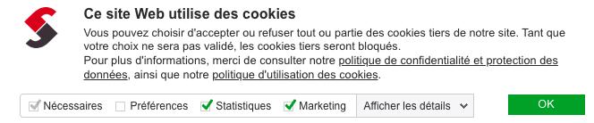 Ce site web utilise des cookies - déclaration RGPD
